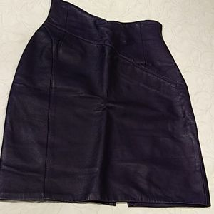 Forenza.  Purple leather skirt